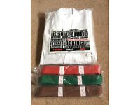 Martial Arts Karate Judo Gi Uniform and Belts