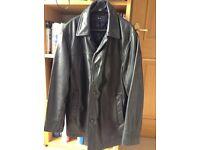 Mens leather coat.