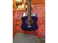 Encore acoustic guitar with stand & carry bag