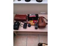 Selection of cameras, photography , lenses, equipment