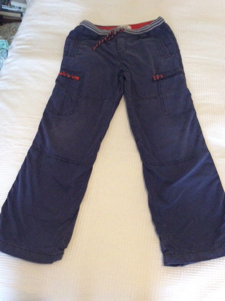 Boden Boys lined blue cargo trousers 12 years - 2 pairs available