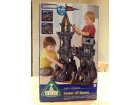 ELC Tower of Doom, wooden castle complete with knights and dragons