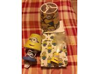 Minions bed sheets and lights
