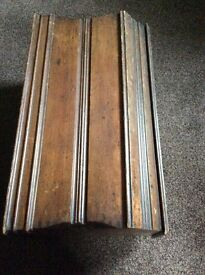 Vintage sowing machine wooden cover