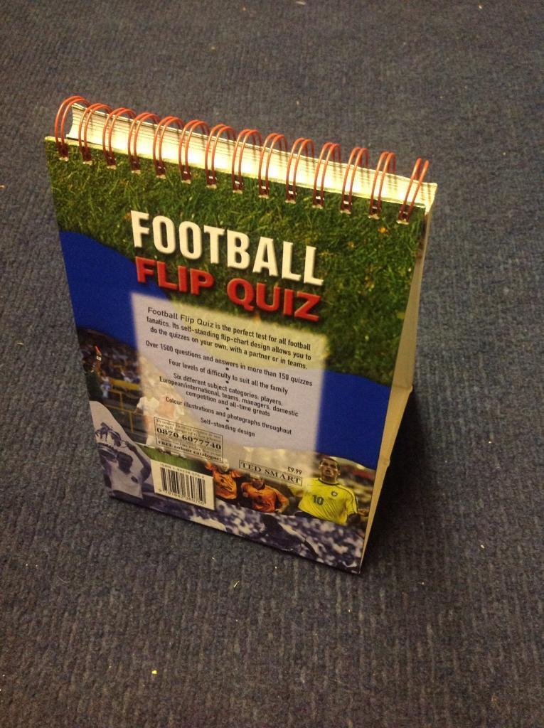Football flip quiz book