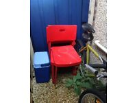 FREE 4 x stackable red chairs
