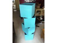 4 Baby Blue Ikea Kallax Drona boxes