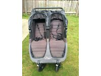 Baby jogger citi mini gt double pushchair buggy with 2 footmuffs