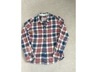 Pink and blue checked jack wills ladies shirt