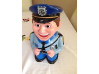 Dress Talking Cop Cookie Jar