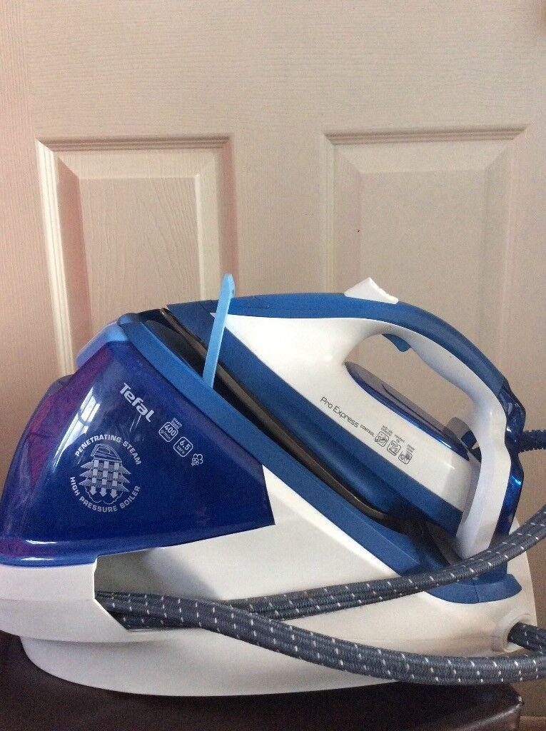tefal pro express gv7850 steam generator iron - blue & white