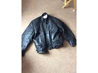 Heavy Leather Motorcycle Jacket XL