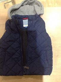 John lewis navy quilted and fleeced gilet, 2-3 years