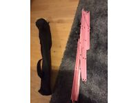 Pink collapsing music stand