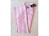 Women's Pink Stripe Trousers Size 12 BNWT