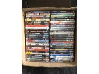 Assorted selection of dvd's. 54 different titles sold as job lot