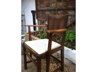ERCOL DINNING TABLE AND SIX CHAIRS WITH SIDEBOARD