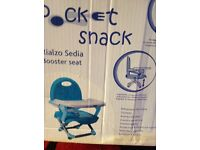 Chicco baby booster seat for dining at table