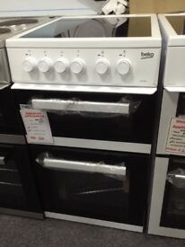 Beko white 50cm electric cooker. Ceramic hob. A rated £ 220 new/graded 12 month Gtee