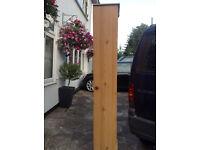 2 x tall slim pine effect wardrobes