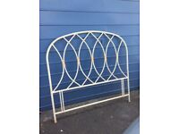 Lovely metal headboard,surplus to requirements