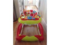 Baby Walker/Rocker - Red Kite - 6 months + car design, great condition