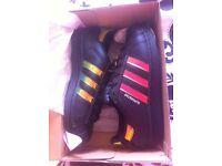 Adidas superstar 3 black trainers BRAND NEW
