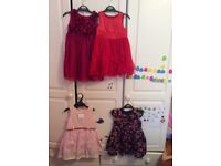 Little girls dresses 6-12 maths, 12-18 months and 1-2 years