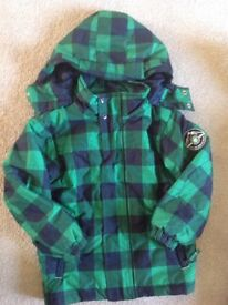 Kid winter coat black and green 5 years