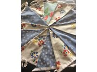 Only 2 left x Vintage fabric double sided bunting