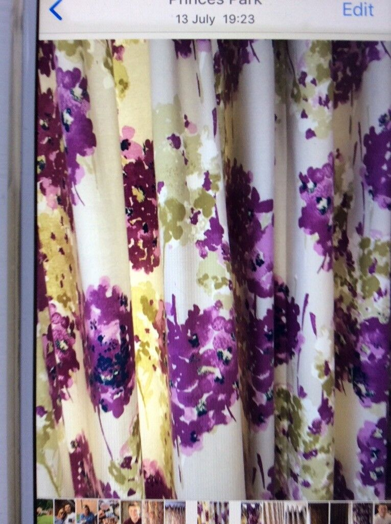 Made To Measure Pinch Pleat With Button Detail Curtains 120 Wide X 60