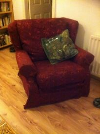 Fabric Armchair set x2 FOR SALE £10 each ONO