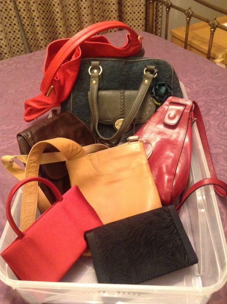 Las Handbags Including Radley John Lewis Mantaray All Good Or Very Condition