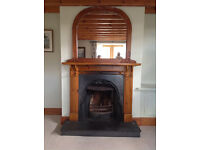Victorian Fireplace with Pine Surround