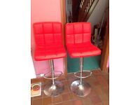 breakfast bar stools for sale in red leather faux