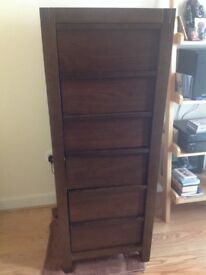 M&S real wood brown chest of drawers excellent condition £149.00