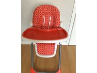 Baby start high chair in orange