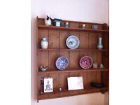 Pine wall mounted display shelf for sale