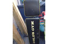 Gold's Gym Weight Lifting Bench, Lifting Bar & Weights