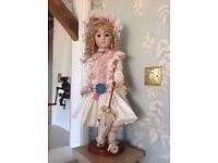 Reproduction antique porcelain doll