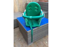 Climbing frame baby swing attachment