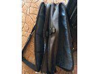 Black laptop case three compartment shoulder straps