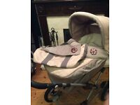 Silver Cross Sleepover Elegance Pram System with car seat and all accessories