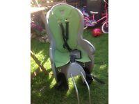 Hamax Kiss Rear Child Bike Seat plus fastening bracket, good condition
