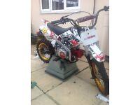 125cc semi automatic pit bike