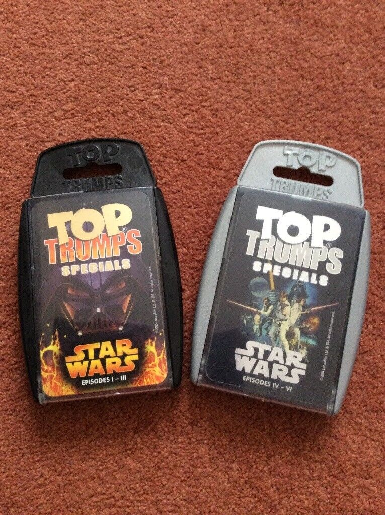 Star Wars Top Trump playing cards