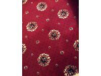 Red patterned Wilton carpet