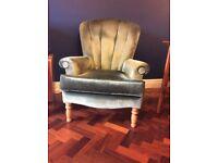 Vintage Velvet Armchair cocktail chair very comfy