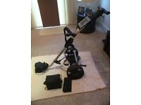 Electric golf trolley 'pro master'36 hole battery with charger . Excellent condition