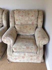 Three seater sofa & chair